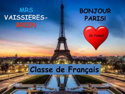 Poster to print for front door of French classroom 2
