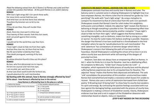 Essay On The Yellow Wallpaper Romeo And Juliet  Exams On Themes Feud Love Death Fate Family  Honour Model  Writing Frame By Hmbenglishresources  Teaching  Resources  Tes Student Life Essay In English also Political Science Essay Topics Romeo And Juliet  Exams On Themes Feud Love Death Fate Family  English Essay Example