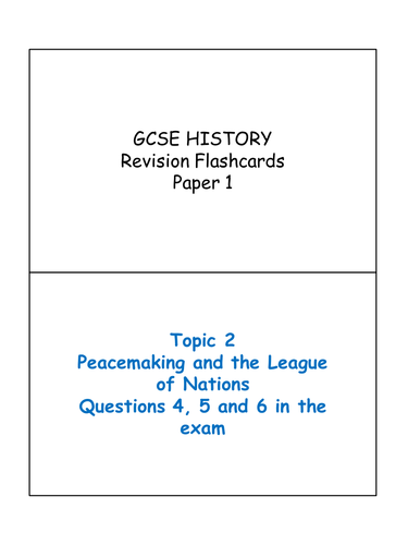AQA GCSE HISTORY - Student Revision Cards (Paper 1)