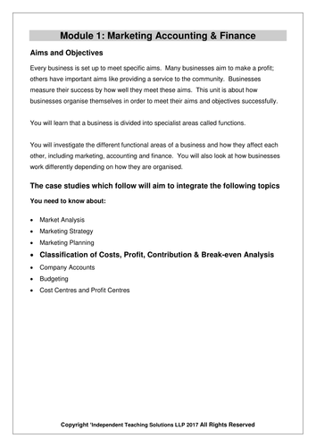 GCSE Business Case studies and Worksheets  - Cost, Profit and Break-Even (editable)