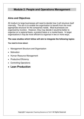 GCSE Business Production (editable)