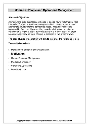 GCSE Business - Motivation (editable)