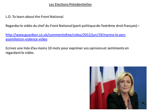 French Elections - Front National