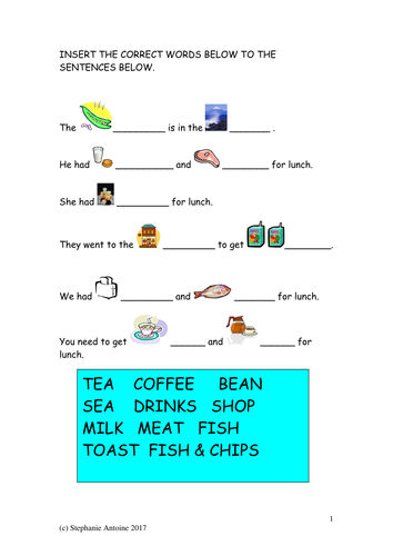 sentences practice worksheet 4