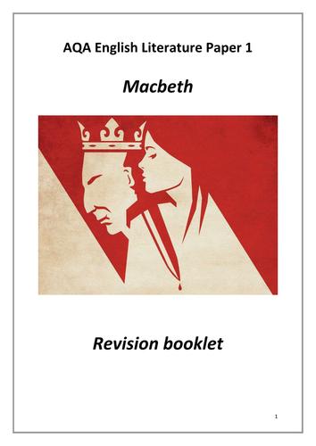 AQA Macbeth Revision Booklet