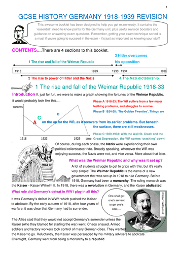 GCSE Germany Revision Notes