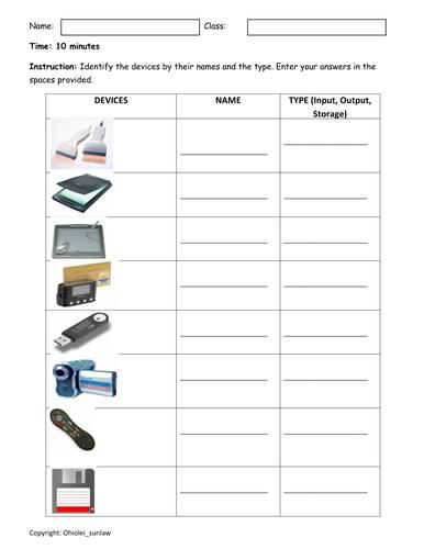 Hardware Worksheet