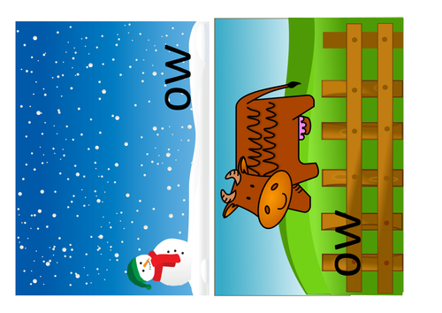 PHONICS sort the two ow sounds Year 1  ow as in snow ow as in cow