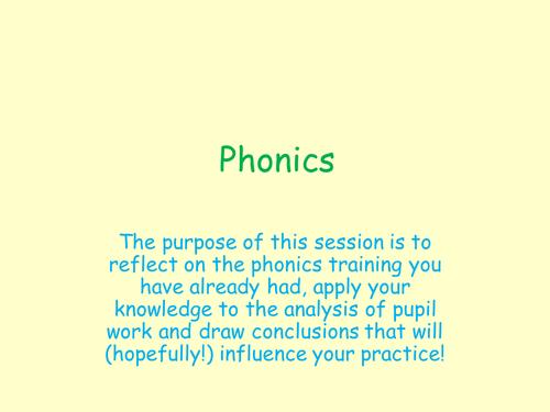 Secondary ITT/NQT training - intro to phonics
