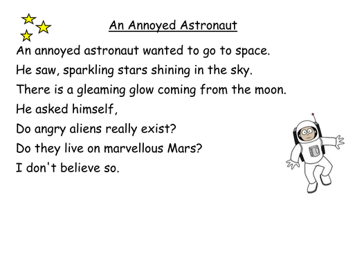 activities and poems to accompany alliteration ppt and lesson