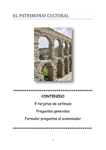 Speaking cards and questions El patrimonio cultural