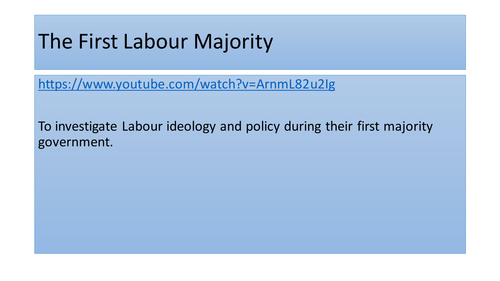 Labour government 1945 - AQA A Level