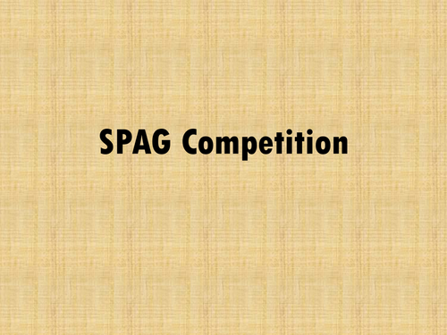 SPAG competition quiz for KS2 Year 6 SATs revision