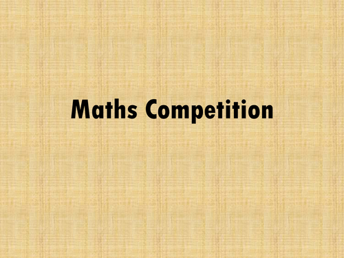 Maths competition quiz for KS2 Year 6 SATs revison