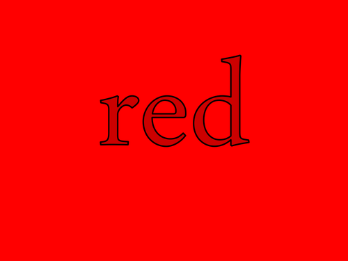 Colour RED - PPT to teach preschoolers about colours