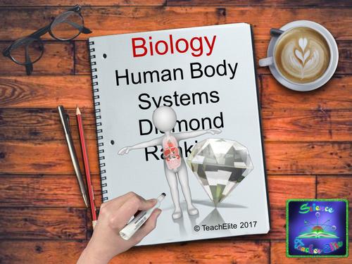 Human Body Systems Diamond Ranking Activity