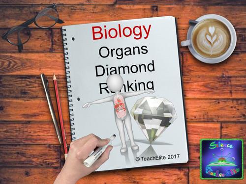 Human Organs Diamond Ranking Activity