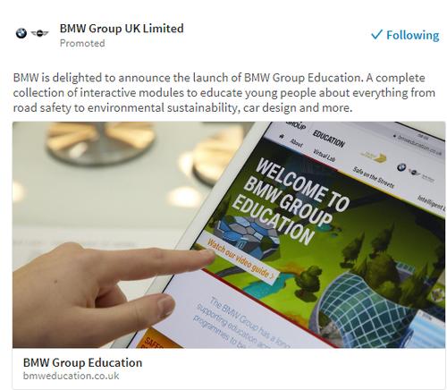 BMW Education annoucement