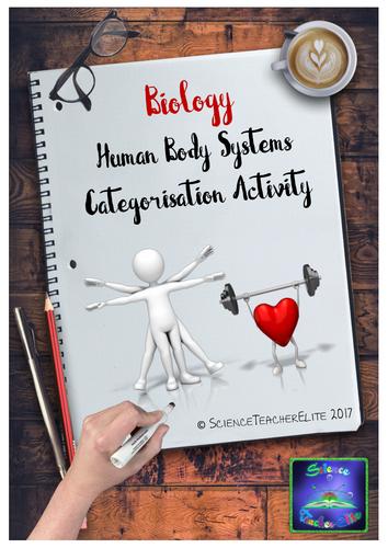 Human Body Systems  Categorisation Activity