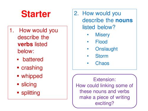 Year 7 reading assessment prep - based on AQA KS3 assessments format