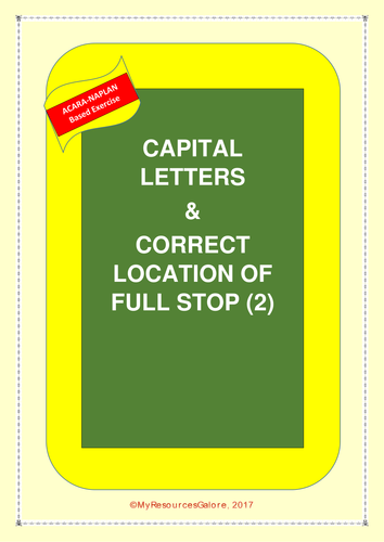 Capital Letters & Correct Location of Full stop (2)