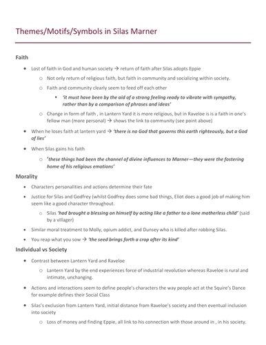 the portrayal of silas marner essay Silas marner by george eliot lesson plan examines the characters, themes, vocabulary activities, silas marner summary, plot diagrams and chapter summaries of book.