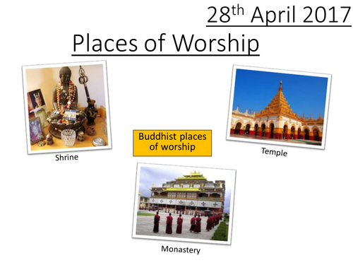 Buddhist Places of Worship - GCSE RS AQA New Specification