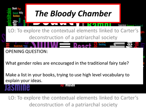 the bloody chamber gender constructions and