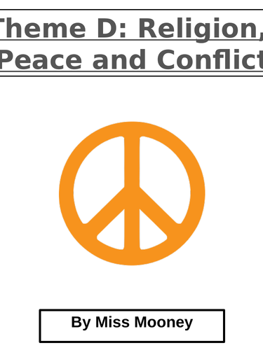 Theme D Religion, War and Peace Revision Booklet