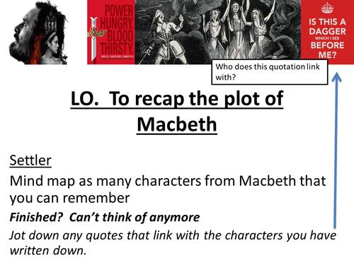 Macbeth Revision AQA - Plot