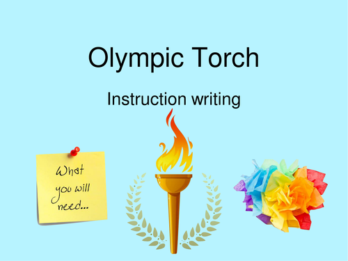 Instruction Text Writing: Olympic Torch