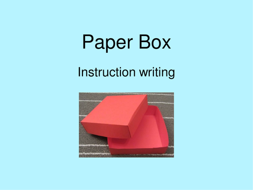 Instruction Writing to make a Card or Paper Box (DT links)