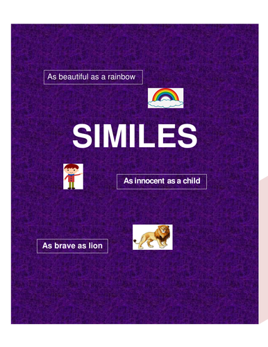 Similes- List of similes including persons, animals and things/objects