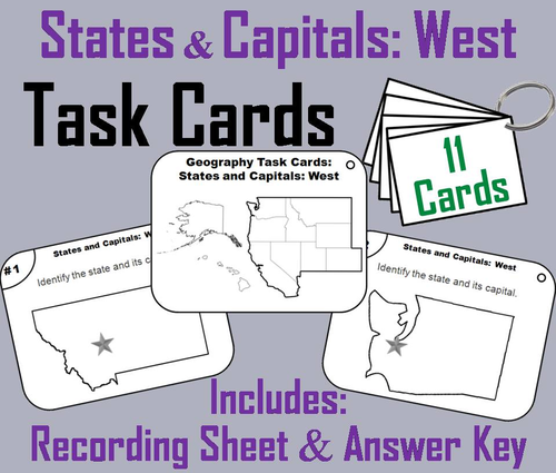 Science Spot Teaching Resources TES - West region states and capitals