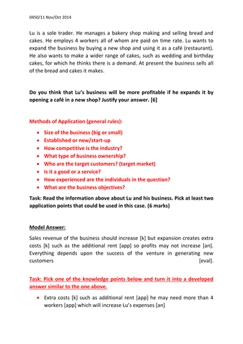 igcse business studies questions and answers pdf