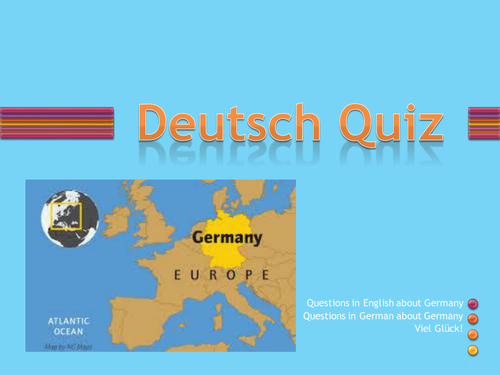 Introductory quiz for German lessons, interesting and fun, ready for immediate use.