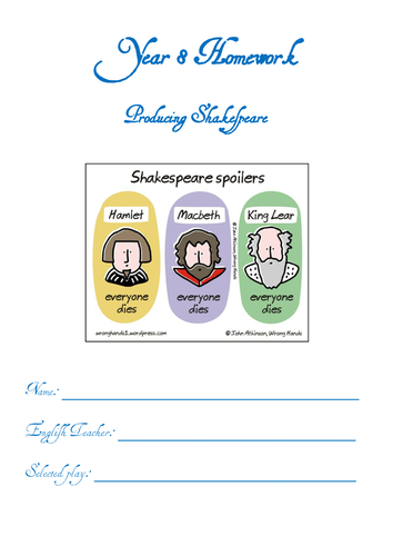 Y8 - Half Term Homework Project - Shakespeare & Drama
