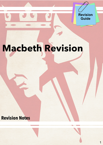 Macbeth Revision Guide (Key Quotes & Grade 8 Extract Question)