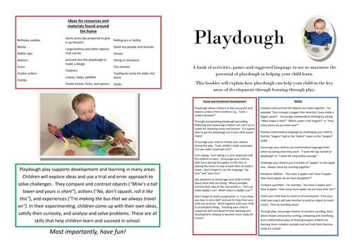 Early Years Maths & Fine Motor Development ideas with Playdough (Play Doh)