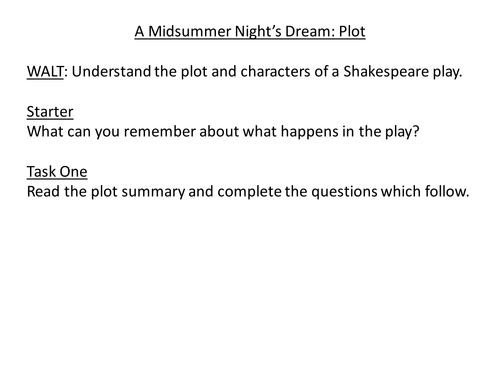 How is Love Presented in A Midsummer Night's Dream?