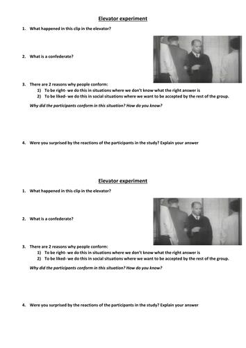 Lesson 1- Conformity