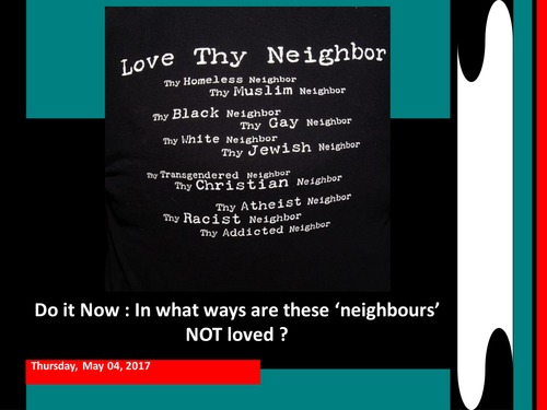 How easy it to Love Your Neighbour?