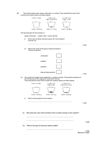 Thermal decomposition (full lesson)