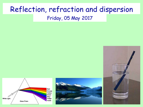 Reflection, Refraction, Dispersion (Full lesson)