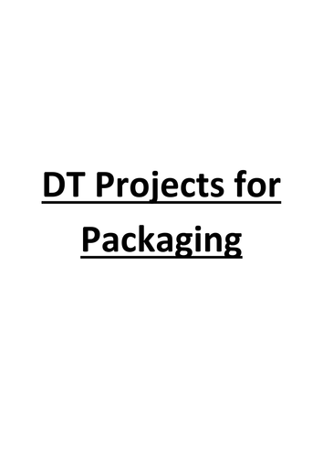 DT Packaging project