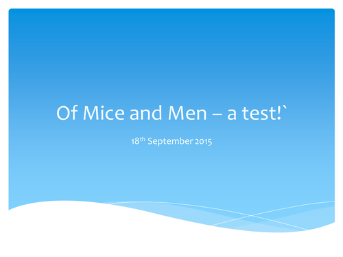 Of Mice and Men marketplace lesson for context