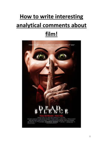 Horror Film Review booklet