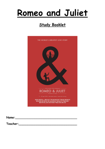 Romeo and Juliet study guide - ideal for cover or independent work
