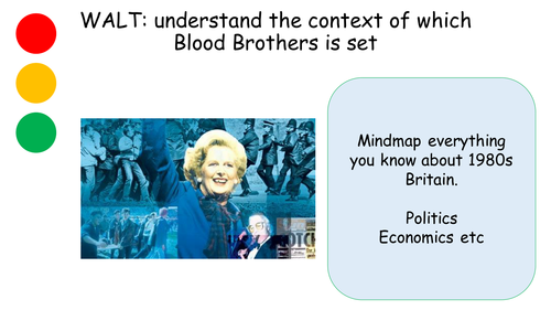 Blood Brothers : Willy Russell : 1980s context social and political