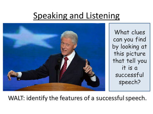 Speeches : Speaking and Listening : What makes a great speech?